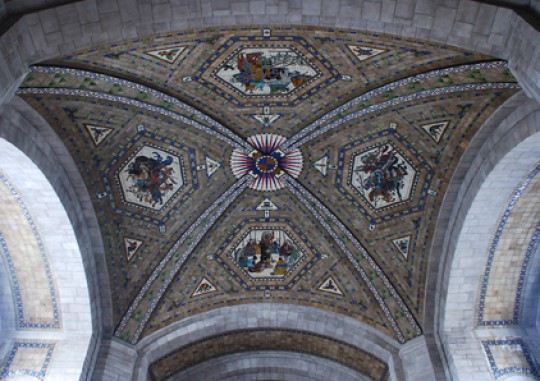 East Chamber dome with mosaics by Hildreth Meiere