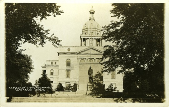Lincoln Monument as installed on the Second Capitol grounds