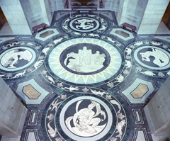 Rotunda mosaic floor created by Hildreth Meiere