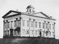 Second Territorial Capitol in Omaha. Cnetral High School was built on the site where this building stood.
